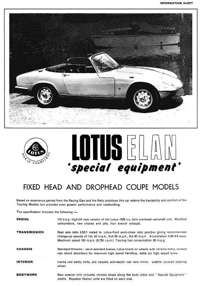 Lotus Elan S3 SE