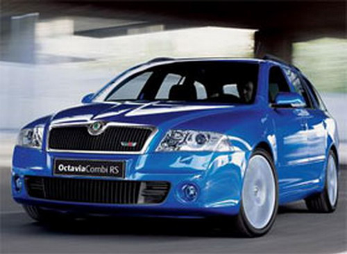 view of skoda octavia 2.0 tdi rs. photos, video, features and tuning