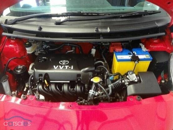 Toyota Yaris NCP91R YRX Red 5 Speed Manual Hatchback