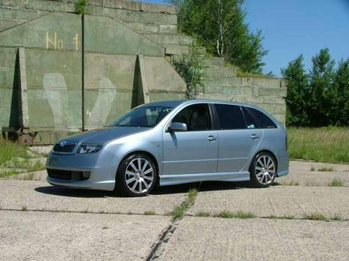 view of skoda fabia combi. photos, video, features and tuning of