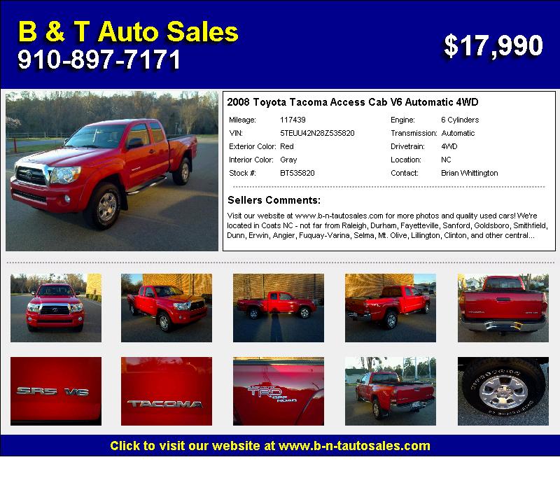 Toyota Tacoma Cab 4WD