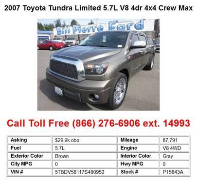 Toyota Tundra CrewMax 4x4 Limited 5.7L