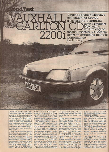 Vauxhall Carlton Mk 2.3 TD Interc.